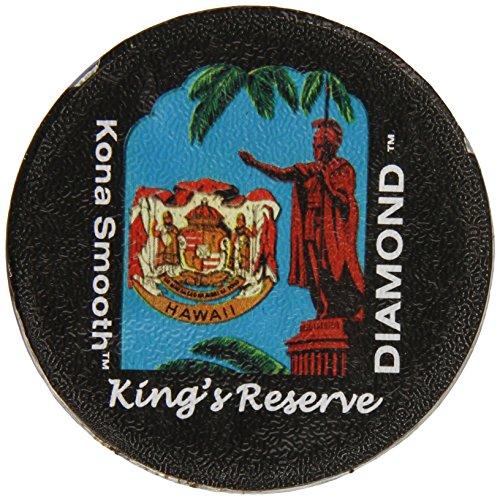 Aloha Island Coffee Company Kona Hawaiian Blend Keurig K-Cups Coffee, Kings Reserve Diamond, 12 Count