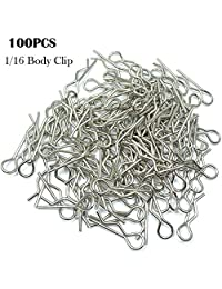 Sanmubo 100PCS Durable Stainless RC Car Shell Body Clip Pins Universal Replacement Pins for HSP RC 1/16 Car Buggy Truck HSP Traxxas Vehicles