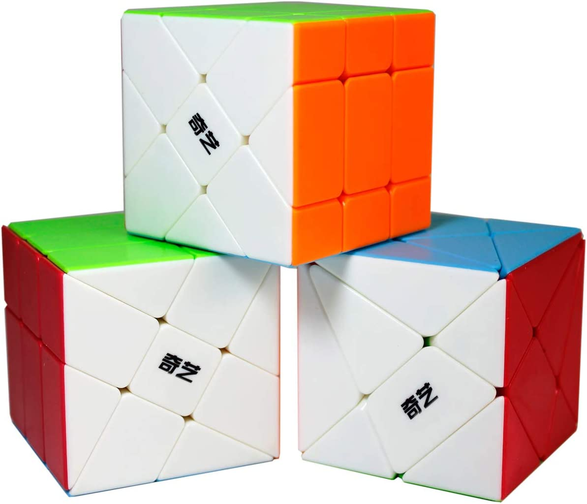 OJIN Specific Cube Puzzle Sets-Pack de 3 (Incluye Cubo de 3X3 Fluctuation Angle Puzzle, Windmill Cube 2x3 Shape Mod, Fisher Cube 3x3x3 Shape Twisty Puzzle): Amazon.es: Juguetes y juegos