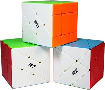 Gobus Pack de 3 Juegos de Cubos, Cubo de Rompecabezas de ángulo de ...