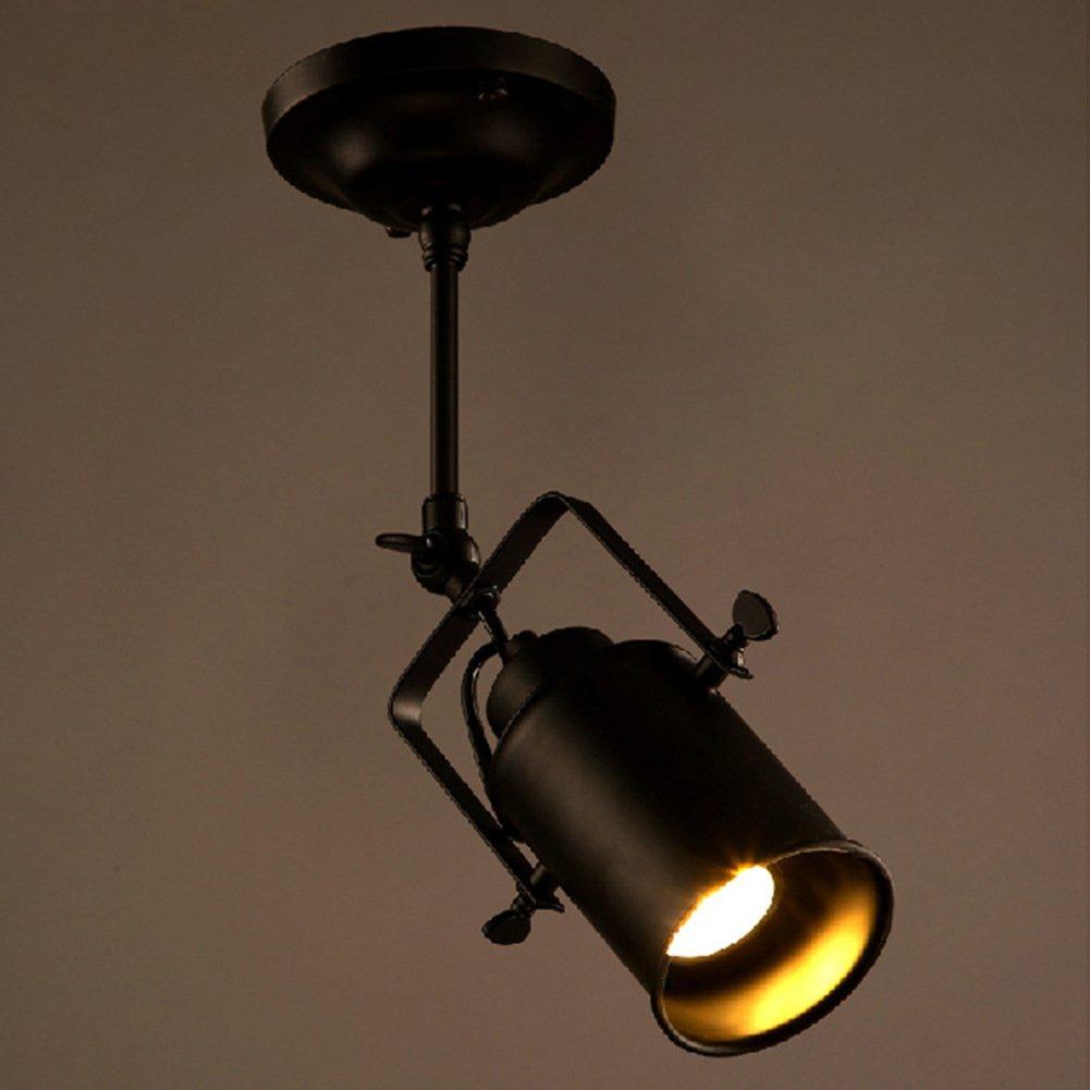 Simple spotlightloft industry pendant chandelierrotating lamp cap hanging lighting fixturesceiling light fixture bars aisle cafe clothing store for e27