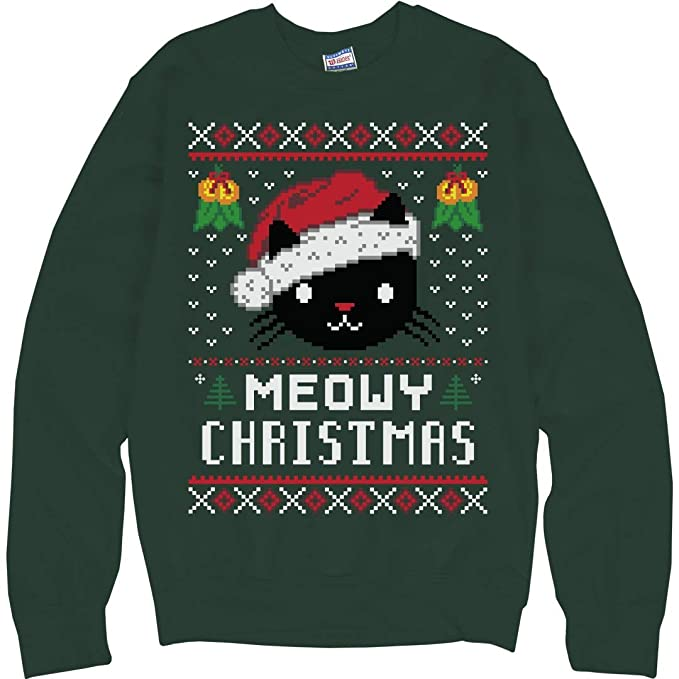 Meowy Christmas Sweater.Meowy Christmas Cat Ugly Sweater For Holiday Parties Unisex Ultimate Crewneck Sweatshirt