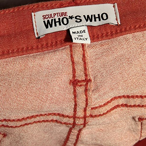 shoes donna CAPRI women 83111 WHO jeans scarpa WHO SKINNY Arancio S SCULPTURE Yq4z8w
