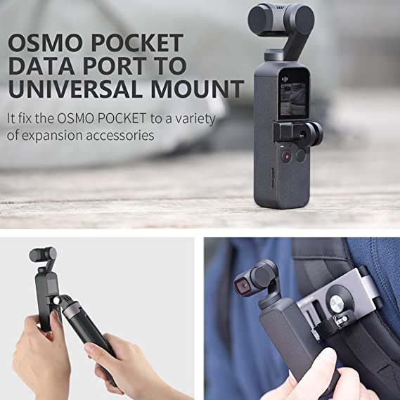 Anbee Action Camera Backpack Strap Holder Belt Clip Mount Adapter for DJI Osmo Action//Osmo Pocket//GoPro GoPro Hero 7//6//5 Yi Action Cam