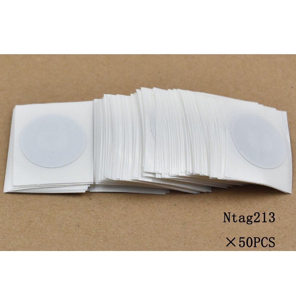 OBO HANDS NTAG213 NFC Tag NFC Forum Type 2 Tag Haute Performance Avec Film de Protection en Plastique NTAG213 NFC Stickers Dia.25mm 20