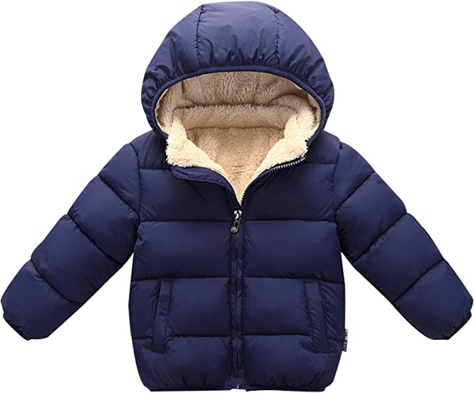 Happy Cherry Kids Winter Warm Puffer Packable Down Jacket Coat for Boys and Girls Blue