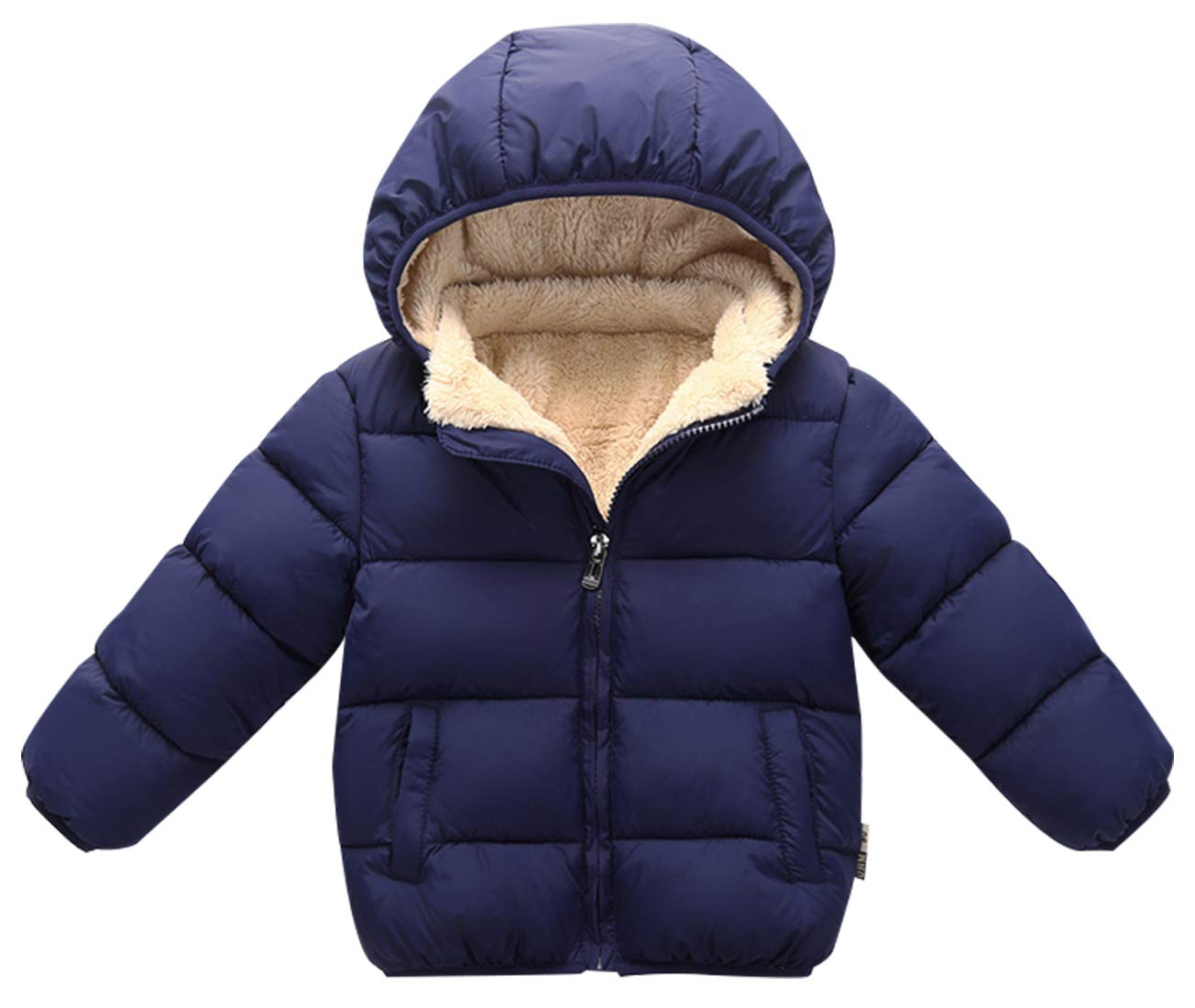 Happy Cherry Toddler Down Jacket Removable Hooded Windproof Snow Winter Coat Outwear 2-3 T XF011FAB0001BUM