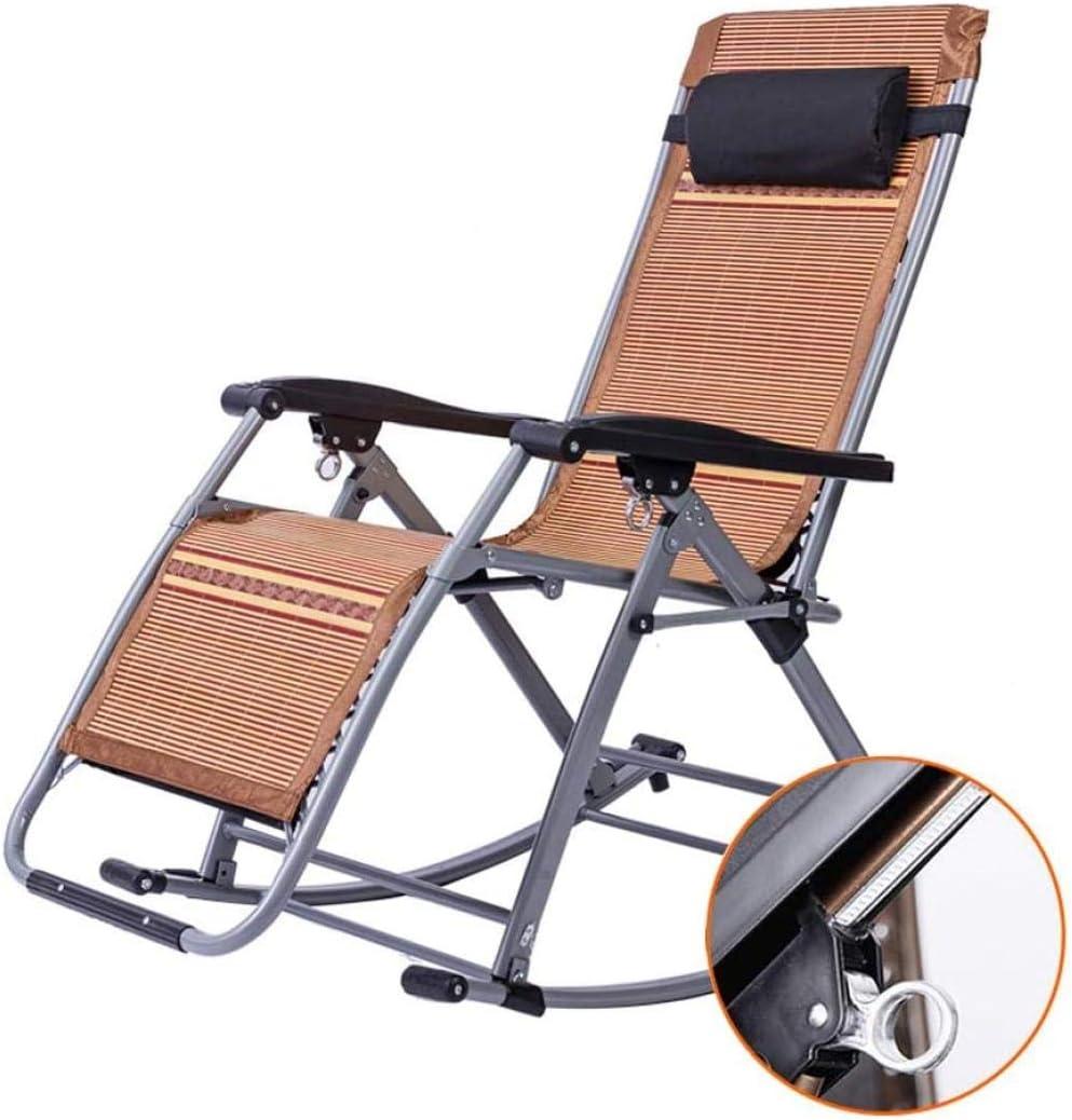 W-YYXMB Regalo de Verano Silla de jardín reclinable de Verano Muebles de jardín Exterior | Tumbona Plegable Tumbonas Ajustables Sillón reclinable para Patio Sala de Estar Balcón Patio Playa