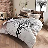 TheFit Paisley Textile Bedding for Adult U1204 Brown Deer and Tree Duvet Cover