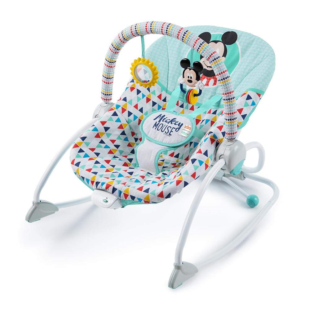Amazon.com : Disney Baby Mickey Mouse Happy Triangles Infant ...