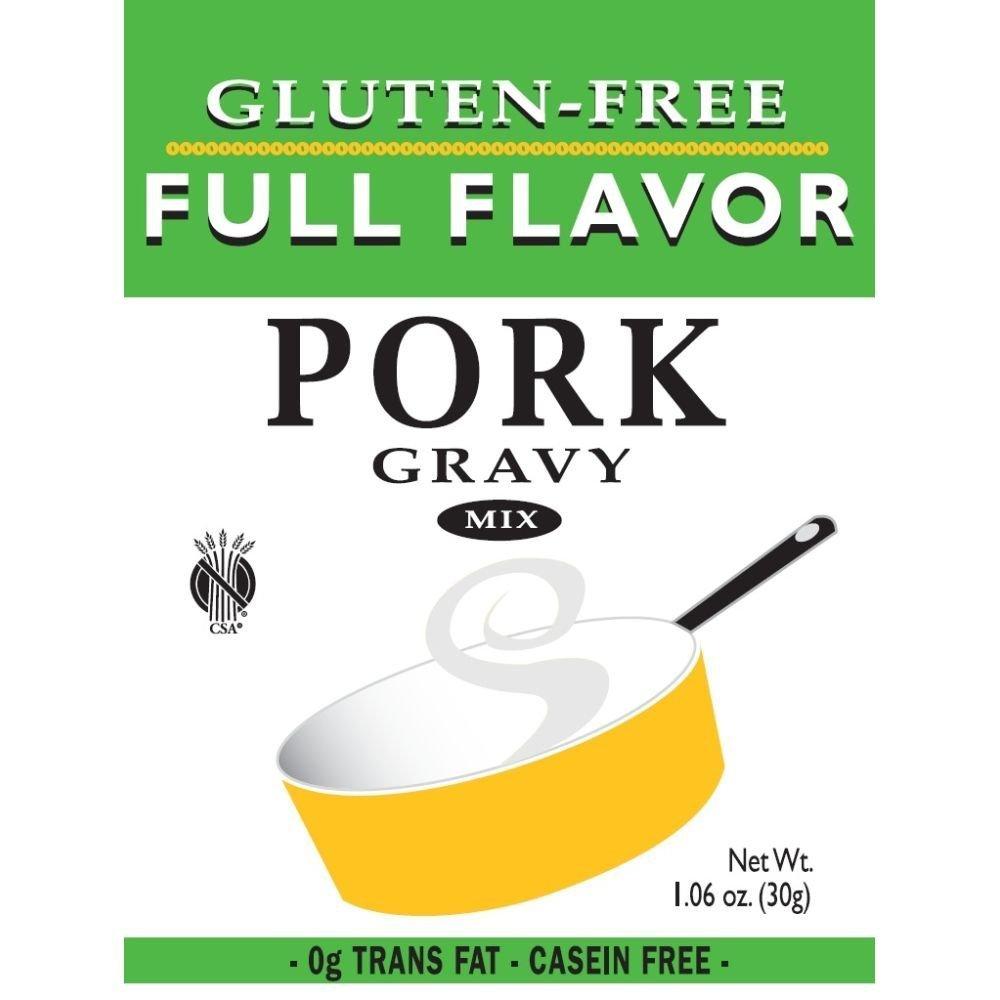 Full Flavor Foods: Gluten Free Pork Gravy Mix 1.06 Oz (12 Pack Case)