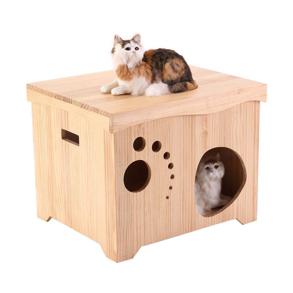 JIANXIN Pet Nest, Cat Climbing Frame, Cat Villa, Solid Wood Kennel, Can Grind Paws, Suitable For Kittens, Use In All Seasons