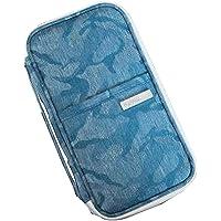 [B] Multi-function Travel Wallet Card Passport Holder Organizer Camo