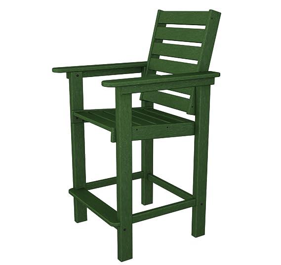 Amazon.com: polywood Capitán counter-height silla al aire ...