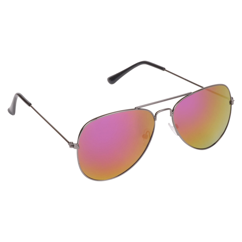 Criba Gradient Wayfarer Unisex Sunglasses - (hunter red with idriss|40|White Color Lens)