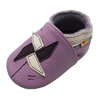 Amazon.com   Yalion Baby Girl Leather Shoes Soft Sole Infant Toddlers Moccasins Little Ones Walking Slip On Shoes   Slippers