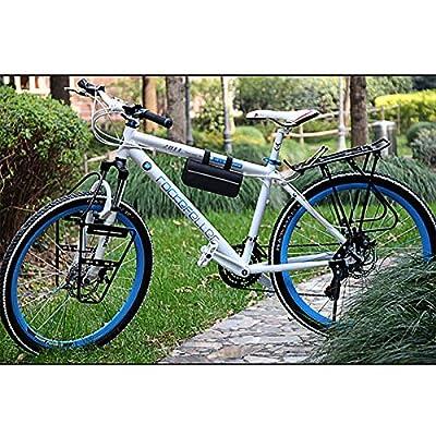 SIQIAN Mini Bike Pump & Tire Puncture Repair Kit & Multi-Function Bike Bicycle Cycling Mechanic Repair Tool Kit & Cycling Bicycle Bike Bag
