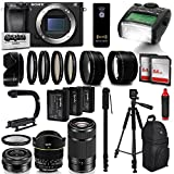 Sony Alpha a6300 Mirrorless Black Digital Camera with 16-210mm Lens Bundle Kit