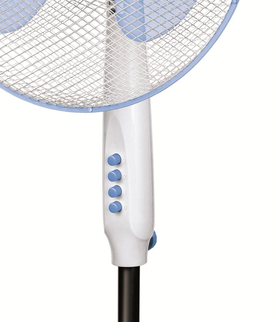 Hauteur Ajustable Oscillant Ventilateur Sur Pied Tr/ès Silencieux 3 Vitesses De Ventilation Noir