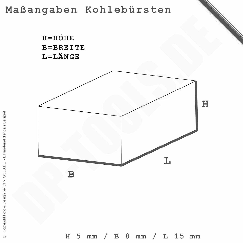 Kohleb/ürsten Kohlen Motorkohlen f/ür AEG WS 650-115 5x8mm