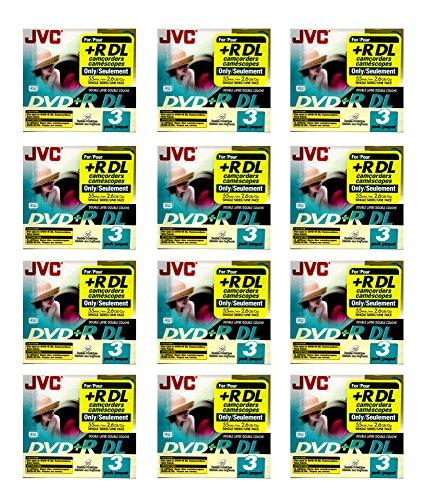 36x JVC DVD+R DL Blank Recordable Camcorder Mini CD Disc 55min 2.6GB (3pk x 12) by 21Supply