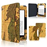 ACdream Kindle Paperwhite Case, Leather Cover fits All Paperwhite Generations Prior to 2018 (Will not fit All-New Paperwhite 10th Generation), Map-Brown