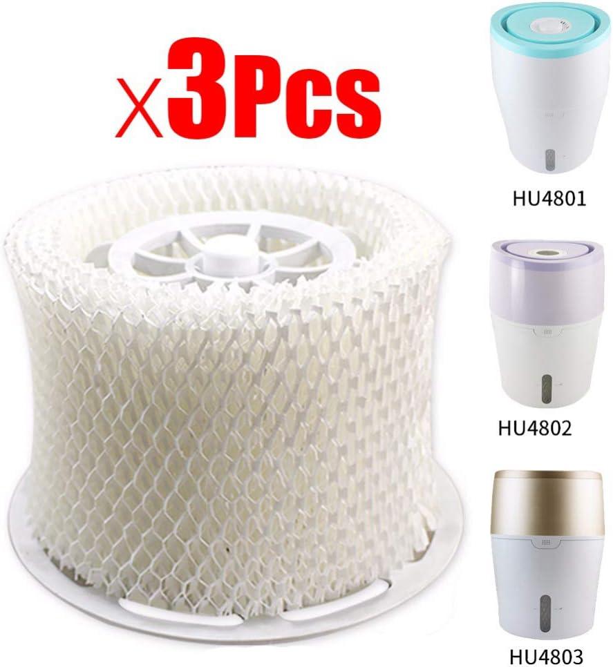 Haude 3 Piezas Originales Piezas del Humidificador De Aire Filtro De Bacterias Y Escala para HU4801 HU4802 HU4803 HU4811 HU4813 Piezas del Humidificador