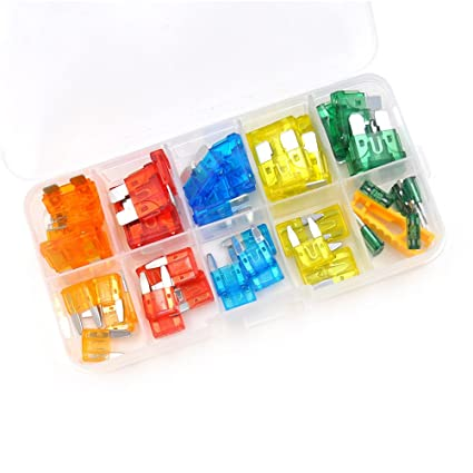 slb works 50pcs auto car blade fuse box kit automotive blade fuse rh amazon in