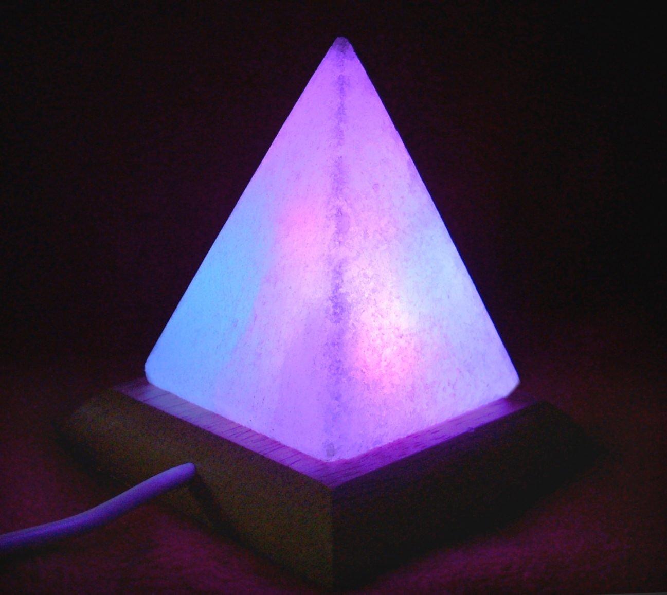 USB Pyramid Himalayan Salt Desk Lamp Multi Coloured: Amazon.co.uk ... for Purple Salt Lamp  193tgx