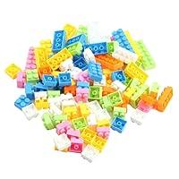 SODIAL(R) Puzzle en plastique colore des enfants puzzle educatif puzzle des blocs 96 pieces par un paquet