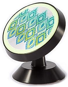 Tinmun Magnetic Phone Car Mount, Beautiful Ikat Border Lace Paisley Universal Car Phone Holder for Dashboard