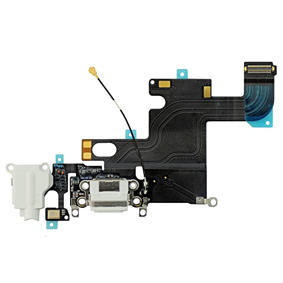 size 40 42810 3f93e LUVSS New Dock Connector Charger Flex Replacement for iPhone 6 4.7 Inches  USB Port Charging Flex Cable with Mic, Headphone Audio Jack Assembly Repair  ...
