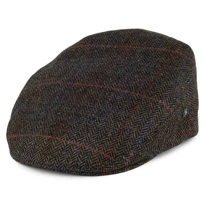 e1716e59 City Sports Hats Herringbone Flat Cap - Olive Medium: Amazon.co.uk ...