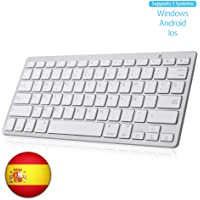 SENGBIRCH Teclado Bluetooth Español, Light Teclado Inalámbrico Portátil para iPhone de iOS, iPad, Samsung, Huawei…