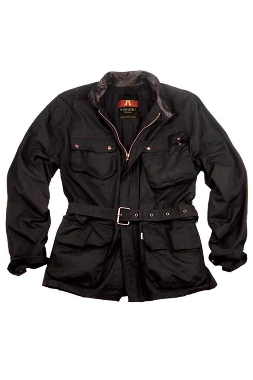 KakaduTraders Australia Kakadu Nelson Biker Jacket Made From Oilskin Canvas