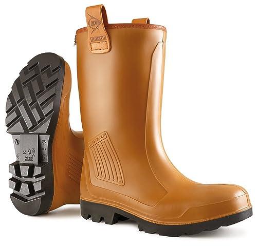 Dunlop C462743FL S5 RIGAIR GEV.LRS 46 - Botas de seguridad unisex, color marrón