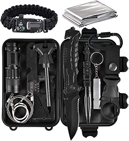 Solo Pocket Emergency Fire Starting Survival Kit With Instruction Card