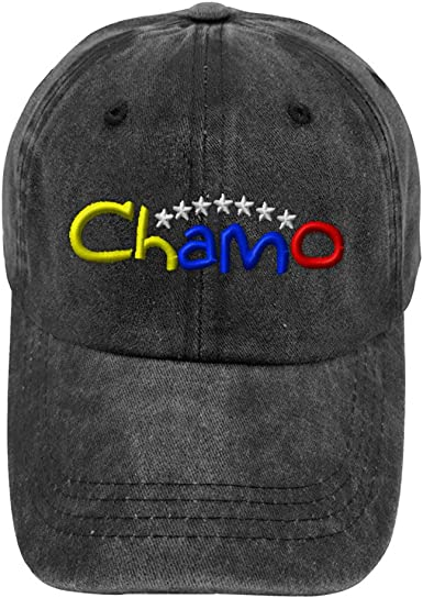 Speedy Pros Chamo Venezuelan Embroidered Soft Unstructured Hat Baseball Cap Black