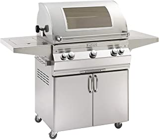 product image for Fire Magic Aurora Series 30-Inch Grill on Cart with Single Side Burner (A660s-6EAP-62-W), Analog Thermometer, Magic View Window, Rotisserie, Propane