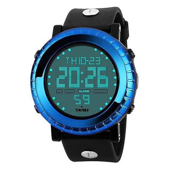 amstt Unisex deporte niños relojes niños niñas Digital resistente al agua reloj de pulsera de alarma