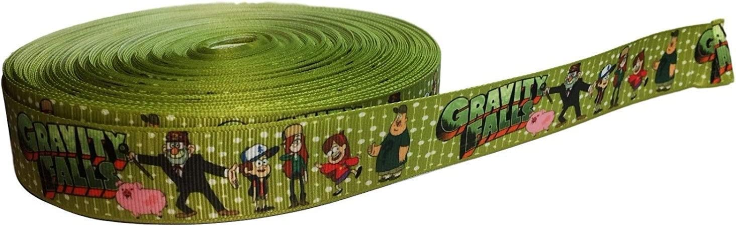 "Gravity Falls 1"" Wide Repeating Ribbon - Tv and Movie Character Ribbon (10 Yard)"