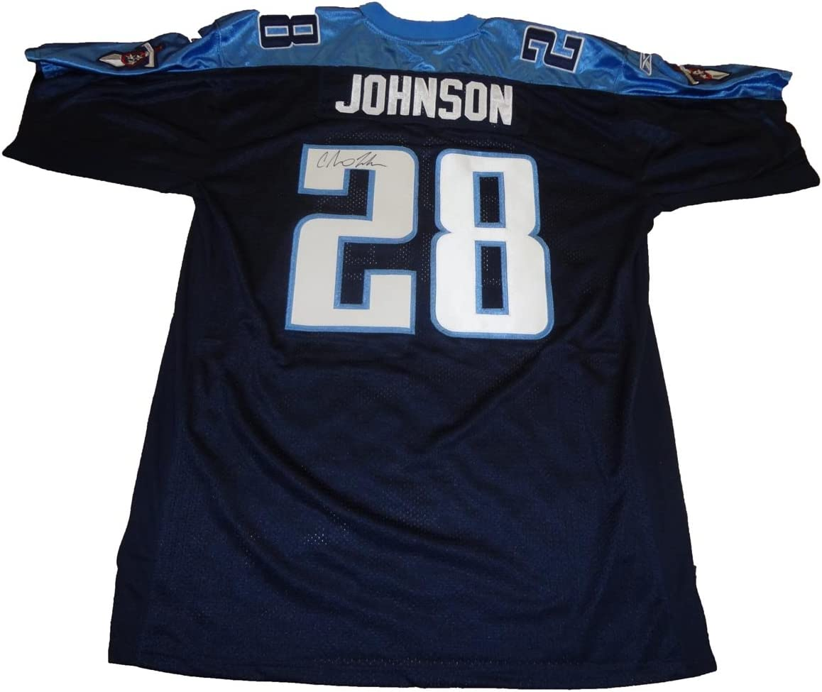 Chris Johnson Autographed Custom Jersey W/PROOF, Picture of Chris ...