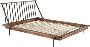 Walker Edison Furniture Company Modern Wood Queen Spindle Bed - Caramel