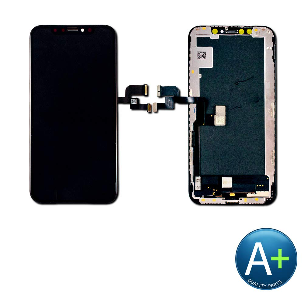 Group Vertical Replacement Screen OLED Digitizer Assembly Compatible with iPhone Xs (5.8'') (A+ Performance)