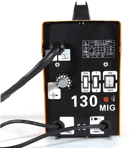 MIG 130 Poste /à souder avec transformateur 50-120 A avec fil 220-240 V