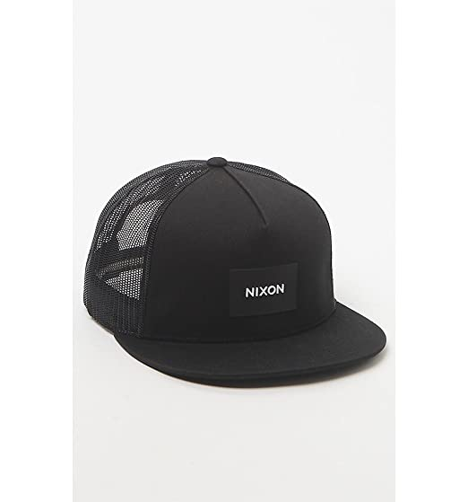 121be9a3b90 Amazon.com  NIXON Unisex Team Trucker Hat Black One Size  Clothing
