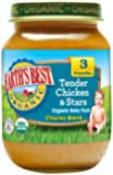 Earth's Best Organic Stage 3 Baby Food, Tender Chicken & Stars Chunky Blend Dinner, Non GMO Ingredients, 6 Oz Jars (Pack of 12)