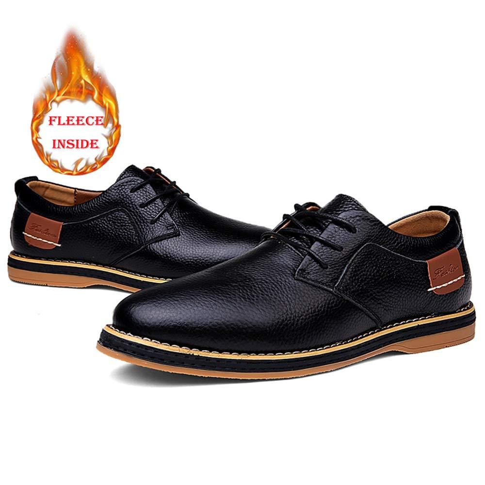 Oxford Casual Casual Low Top Color sólido Simple Terciopelo Forrado Zapatos Semi Formales (Convencional Opcional) (Color : Warm Black, tamaño : 39 EU): ...