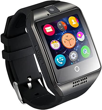 Gzdl Q18 Bluetooth Smart Watch touchscreen con fotocamera sbloccato orologio intelligente orologio telefono cellulare con slot per SIM Card Smartwatch