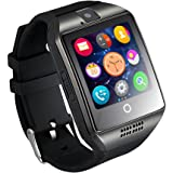 GZDL Q18 Bluetooth Smart Watch Touchscreen with Camera Unlocked Watch Cell Phone with Sim Card Slot Smart Wrist Watch Smartwatch Phone for Android Samsung IOS iPhone 7 Plus 6S (Black)